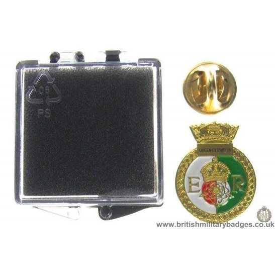 S1A/84  HMS Queen Elizabeth Royal Navy Veteran Lapel Badge & Box