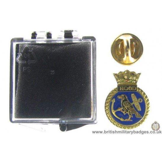 S1A/89 - HMS Hood Royal Navy Veteran's Lapel Badge & Box