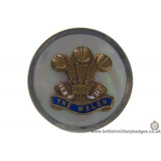 "H1A/21: The Welsh Regiment ""Sterling Silver"" Sweetheart Brooch"