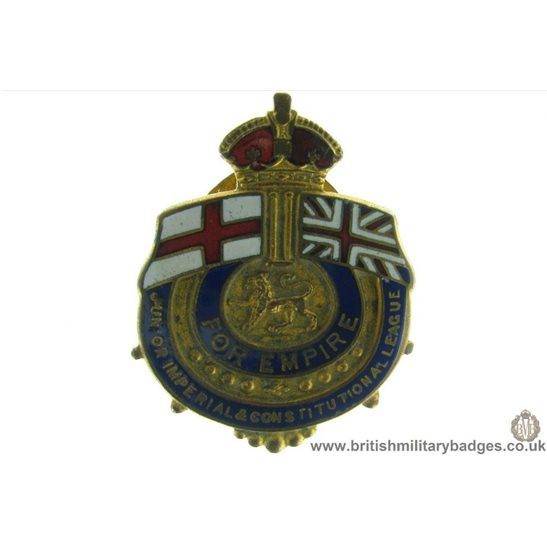 "J1A/02: ""For Empire"" Junior Imperial League Lapel Badge"