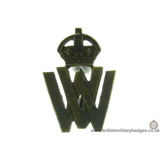 J1A/09: WW2 Women's Voluntary Service WV Lapel Badge