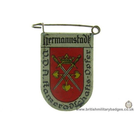 J1A/38: VDA Hermnnstadt German Metal Donation Lapel Badge