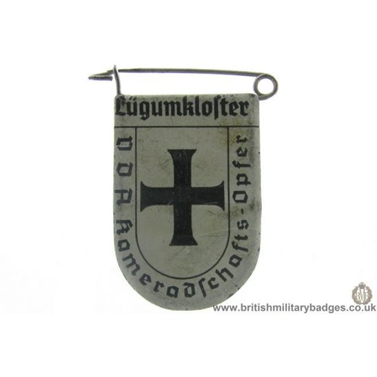 J1A/39: VDA Lugumklofter German Metal Donation Lapel Badge