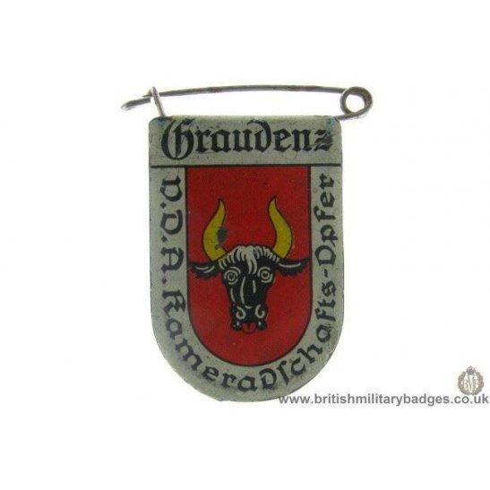 J1A/41: VDA Braudens German Metal Donation Lapel Badge