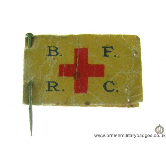 K1B/20 - WW1 British Forces Red Cross BFRC Flag Day Pin Badge