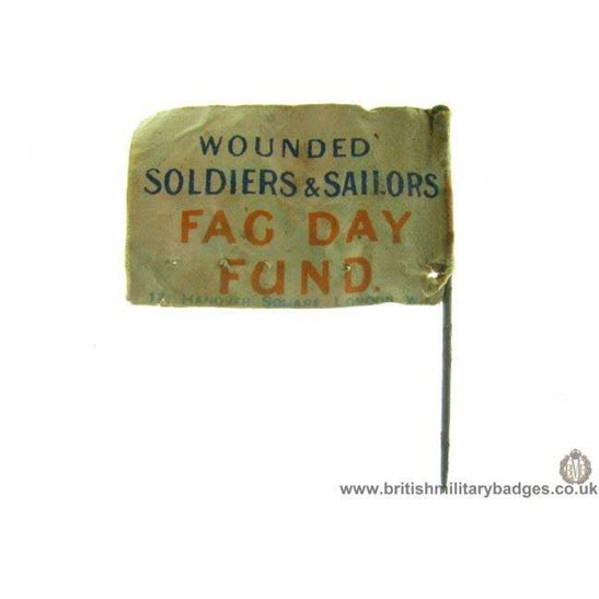 K1B/28 - WW1 Wounded Soldiers & Sailors Flag Day Pin Badge