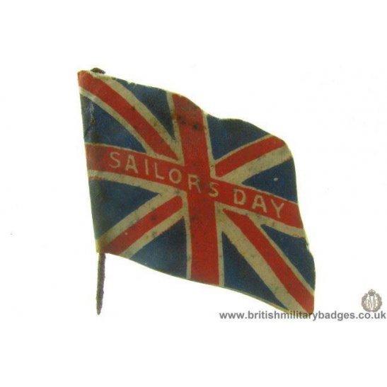 K1B/30 - WW1 Sailors Day Brtish Union Jack Flag Day Pin Badge