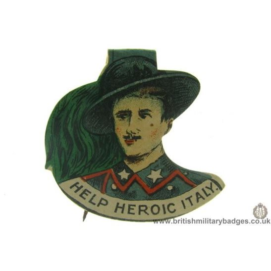 K1B/33 - WW1 Help Heroic Italy Charity Flag Day Pin Badge