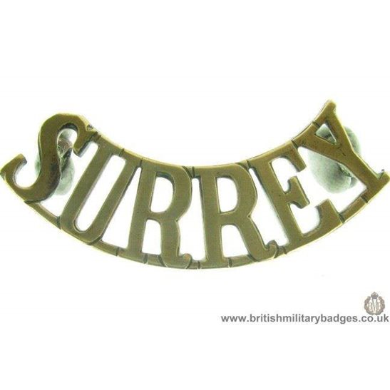C1B/07 - Royal Surrey Regiment Shoulder Title