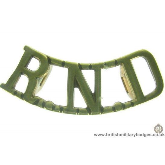 C1B/89 - The Royal Naval Division RND Navy Shoulder Title