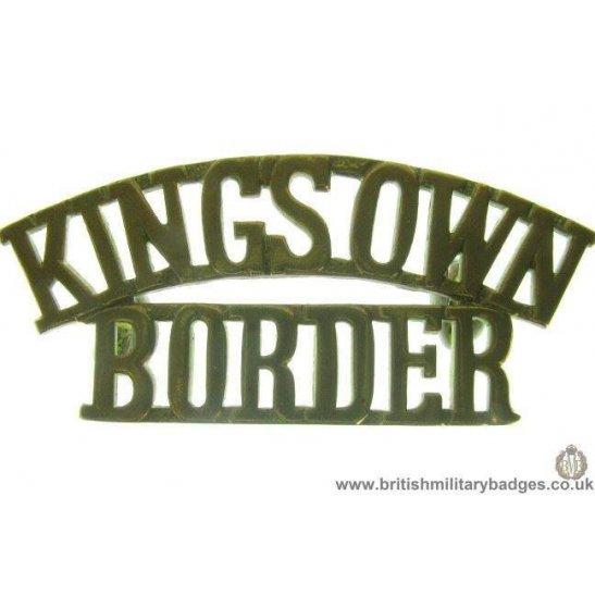 C1B/96 - Kings Own Border Regiment Shoulder Title