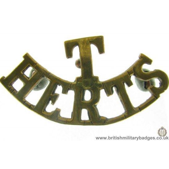 C1C/65 - Territorial Hertfordshire Regiment T Shoulder Title