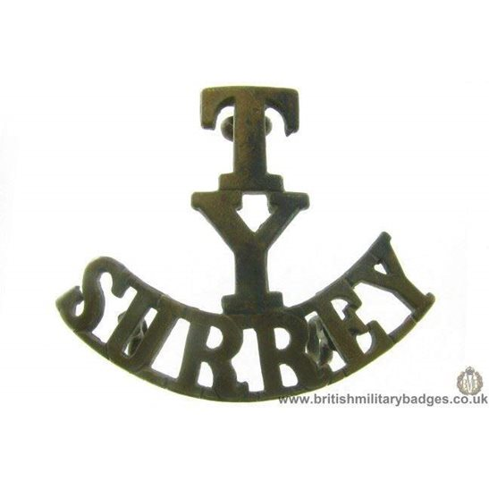 C1C/68 - Territorial Surrey Yeomanry Regiment Shoulder Title