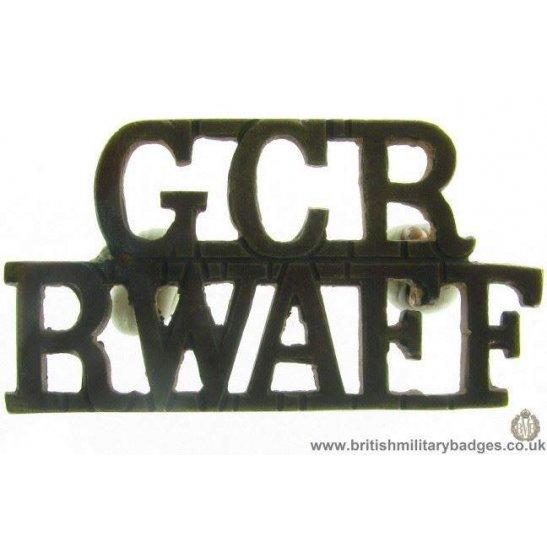 C1C/83 - Royal West African Frontier Force Shoulder Title
