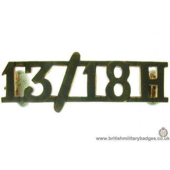 C1C/92 - 13th/18th Hussars Regiment Shoulder Title