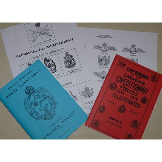 WW1, WW2 & Post 1952 Canadian Cap Badge Reference Booklets