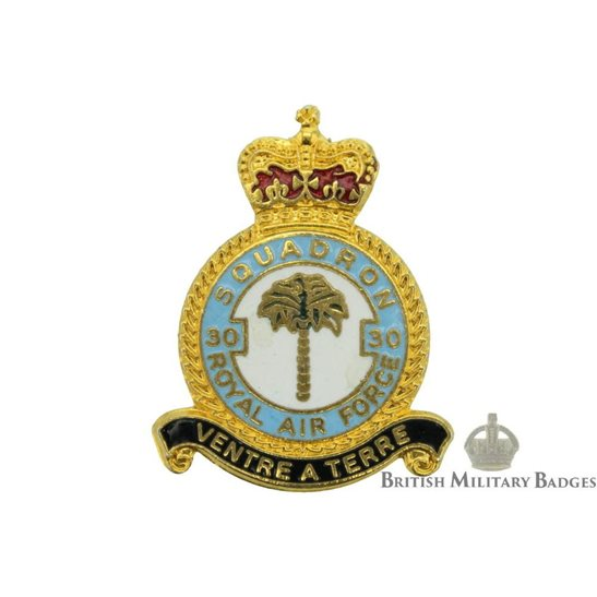 30 Squadron Royal Air Force Lapel Badge RAF