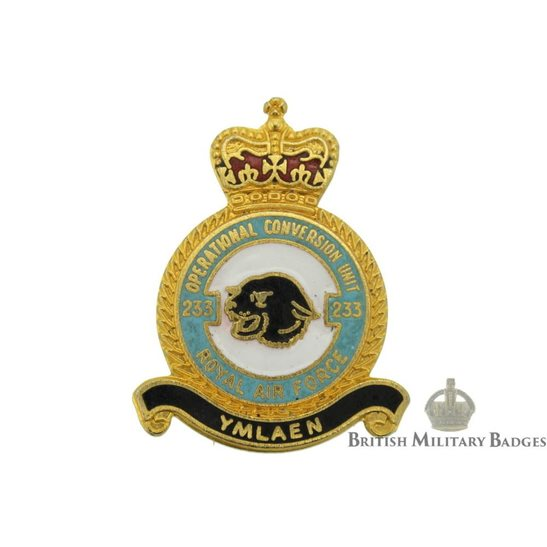 233 Operational Conversion Unit Royal Air Force Lapel Badge RAF