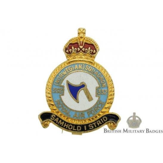 332 Norwegian Squadron Royal Air Force Lapel Badge RAF