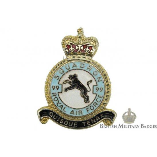 99 Squadron Royal Air Force Lapel Badge RAF