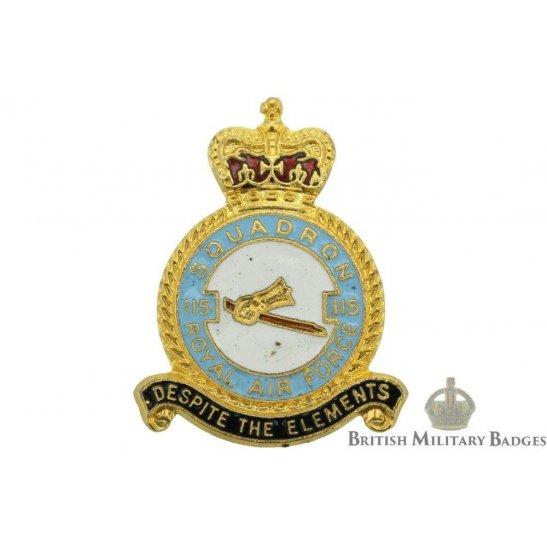 115 Squadron Royal Air Force Lapel Badge RAF