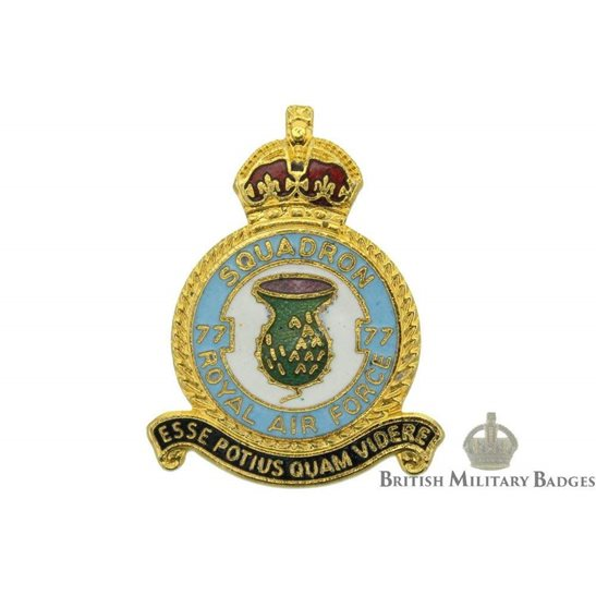 77 Squadron Royal Air Force Lapel Badge RAF