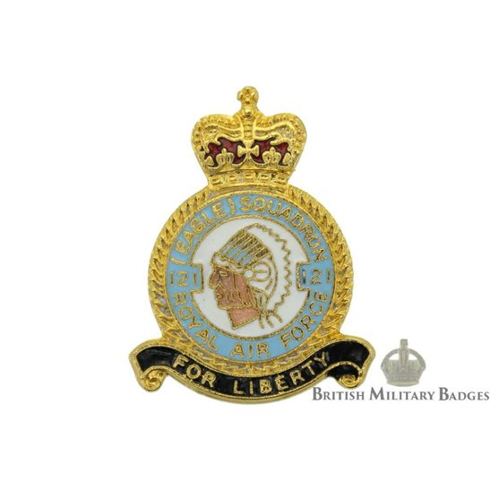 121 Eagle Squadron Royal Air Force Lapel Badge RAF