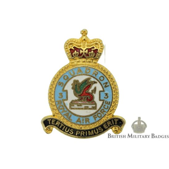 3 Squadron Royal Air Force Lapel Badge RAF