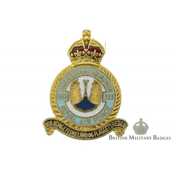 333 Norwegian Squadron Royal Air Force Lapel Badge RAF