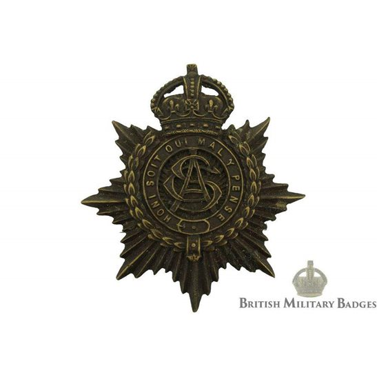 Army Service Corps ASC Bronze OFFICERS Cap Badge