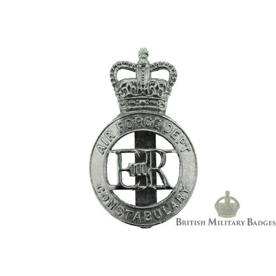 Air Force Department Constabulary Cap Badge - Queens Crown