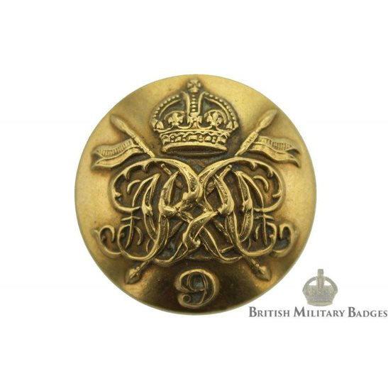 9th Queens Royal Lancers Regiment Tunic Buttons - 23mm