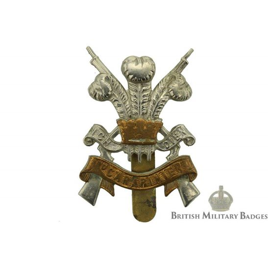 3rd Carabiniers (Prince of Wales's Dragoon Guards) Regiment Cap Badge - GLADMAN & NORMAN Makers Mark