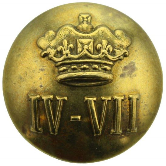 4th/7th Royal Dragoon Guards 4th / 7th Royal Dragoon Guards Regiment 4th/7th Tunic Button - 26mm