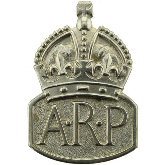 Air Raid Precautions ARP WW2 ARP Warden (Air Raid Precautions) MARPLES & BEASLEY Lapel Badge - MENS