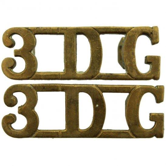 3rd Dragoon Guards 3rd Dragoon Guards Regiment 3DG Shoulder Title PAIR