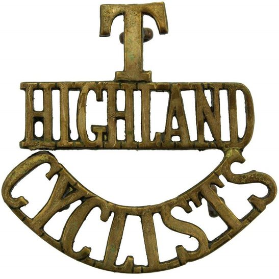 Army Cyclist Corps WW1 Territorial Battalion Army Highland Cyclists Corps Shoulder Title