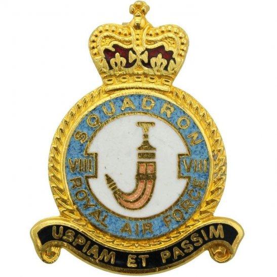 RAF Squadrons VIII 8 Squadron Royal Air Force RAF Lapel Badge