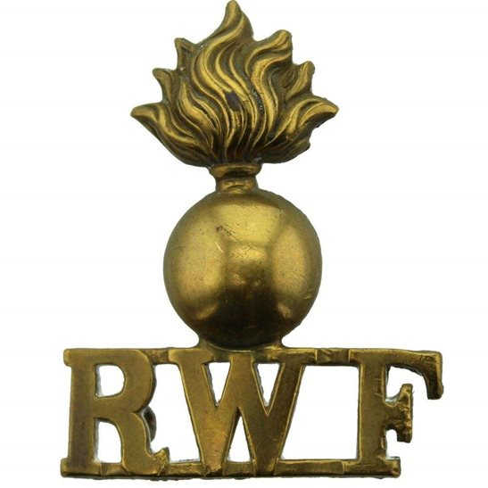 Royal Welsh Fusiliers Royal Welsh Fusiliers Regiment (Welch) RWF Shoulder Title - Single Construction