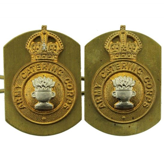 Army Catering Corps ACC Army Catering Corps ACC Collar Badge PAIR
