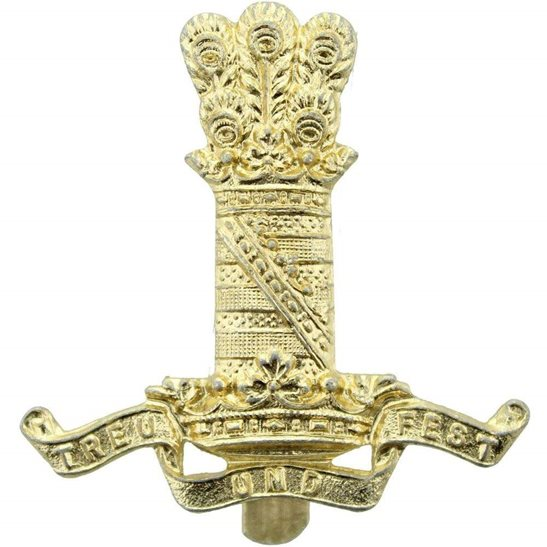 11th Hussars 11th Hussars Regiment Staybrite Anodised Cap Badge - Staybright