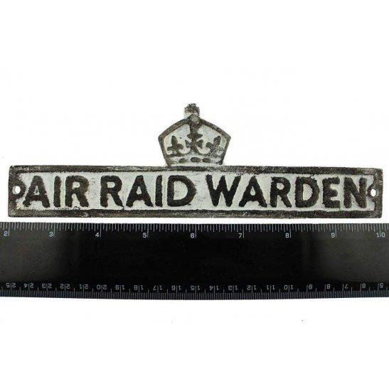 additional image for WW2 Air Raid Precautions Warden ARP Post Metal Door Plaque Sign