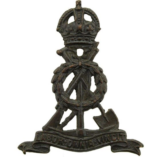 Labour Corps Labour (Pioneer) Corps OFFICERS Bronze Collar Badge