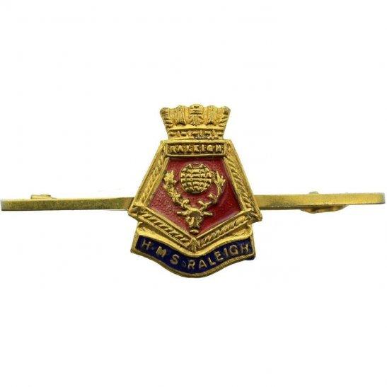 Royal Navy British Royal Navy Sweetheart Brooch HMS Raleigh Lapel Badge