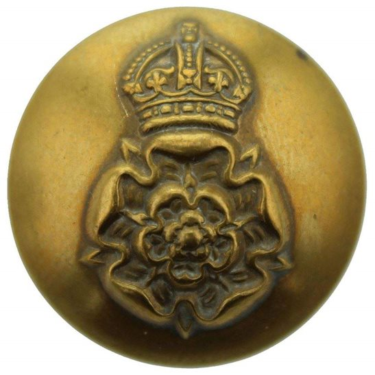 Yorkshire Dragoons WW1 Queens Own Yorkshire Dragoons Regiment Queen's Regiment Tunic Button - 26mm