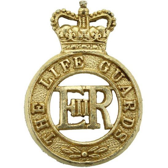 Life Guards The Life Guards Regiment Staybrite Anodised Cap Badge - Staybright