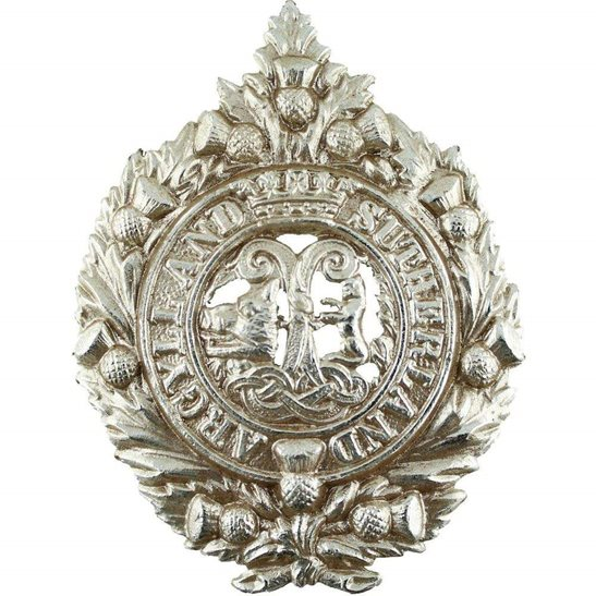 Argyll and Sutherland Highlanders Argyll and Sutherland Highlanders Regiment Staybrite Anodised Cap Badge - Staybright