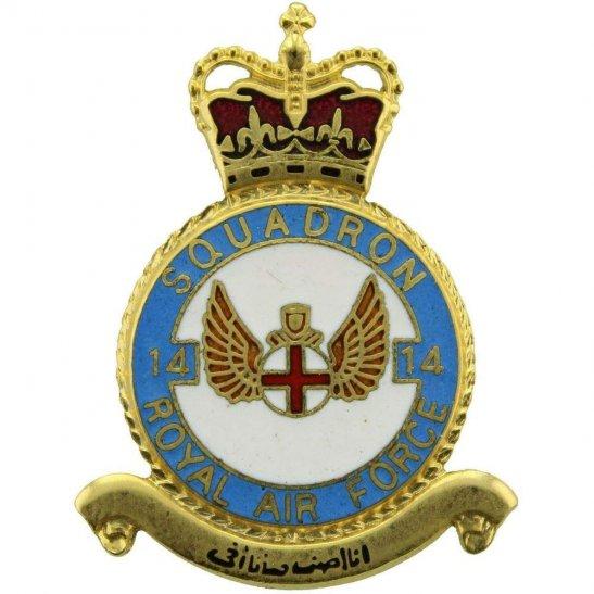 RAF Squadrons 14 Squadron Royal Air Force PLAQUE Badge RAF