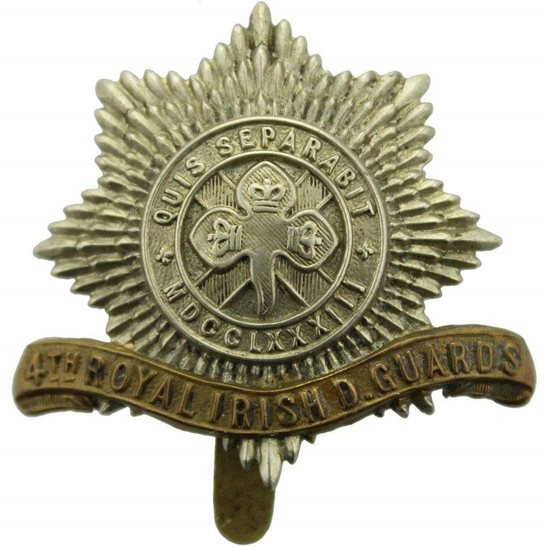 4th Royal Irish Dragoon Guards WW1 4th Royal Irish Dragoon Guards Regiment Cap Badge