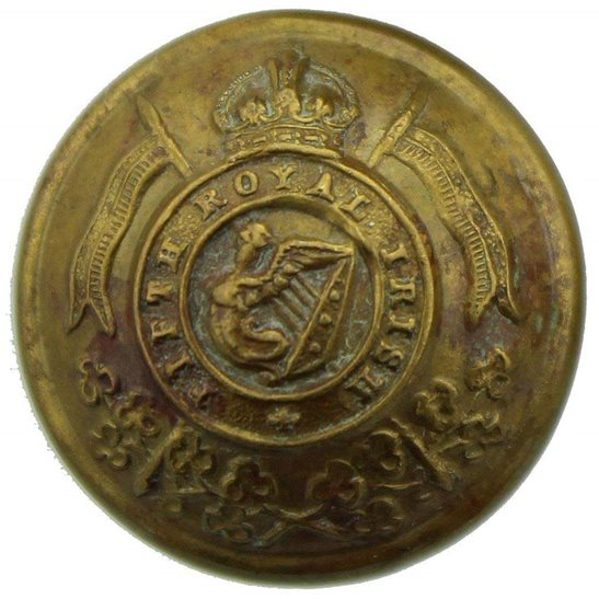 5th Royal Irish Lancers WW1 5th Royal Irish Lancers Fifth Regiment Tunic Button - 23mm